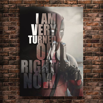 Deadpool movie Art Famous People Quotes Print