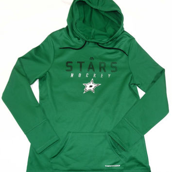 Dallas Stars Majestic ThermaBase Pullover Hooded Sweatshirt Womens Size M