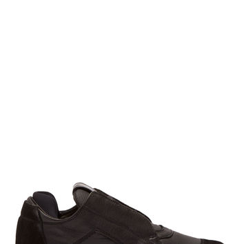 Ca By Cinzia Araia Black Leather Low-top Sneakers
