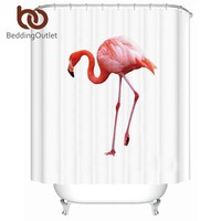 Pink Flamingo Waterproof Shower Curtain