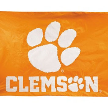 2-sided Nylon Applique 3 Ft x 5 Ft Flag w/ grommets Clemson Tigers - 33025