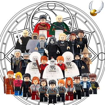 Draco Malfoy Blocks Action minifigs Hermione Granger Ron Ginny Voldemort legoings Single Christmas Gifts Baby Toys for children