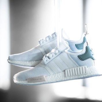 """""""Adidas"""" NMD Trending Fashion Casual Sports Shoes white Mint green"""