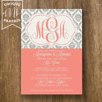 Monograms & Mimosas /// Damask Style /// by designsbynicolina