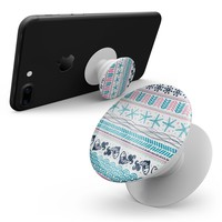 Jumping Fish Repeating Pattern - Skin Kit for Pop Sockets and other Smartphone Extendable Grips & Stands