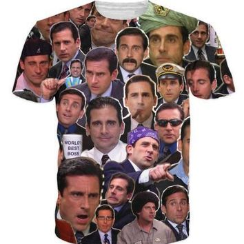 2018 Many Faces of Michael Scott Paparazzi T-Shirt Casual Style tshirts Tees Women / Men Summer T SHIRT Outfits HipSter Crewneck