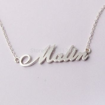 Custom Name necklace personalized necklace 925 silver jewelry customized necklace