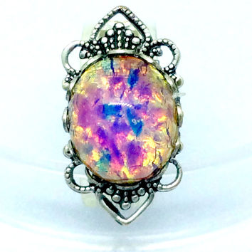 Dragon's Breath Opal Ring