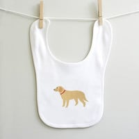 Golden Retriever baby bib for baby boy or baby girl