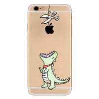 Green Dino Apple Phone Case + Screen Protector For iPhone 7 7Plus 6 6s Plus 5 5s SE