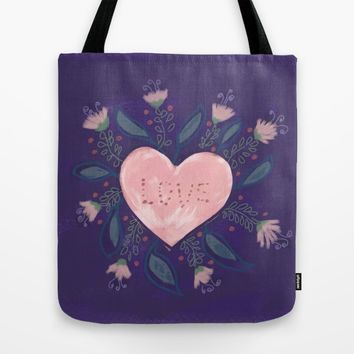 Hand-Illustrated Valentine's Day Heart Tote Bag by Yaansoon | Society6
