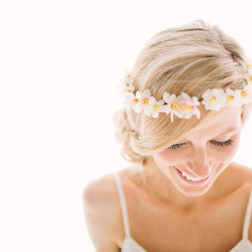 LILLIAN everyday flower crown by FlowerCrownSociety on Etsy