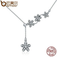 Sterling Silver Luminous Daisy Flower Necklace