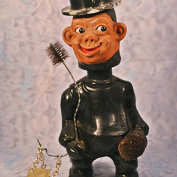 Heico West German Chimney Sweep Troll, Vintage Collectible Doll