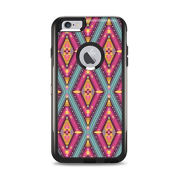 The Pink & Teal Abstract Mirrored Design Apple iPhone 6 Plus Otterbox Commuter Case Skin Set
