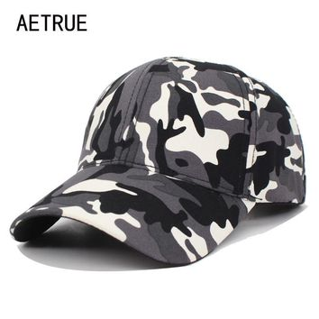 Trendy Winter Jacket AETRUE Camo Baseball Cap Men Snapback Caps Women Camouflage Army Casquette Hats For Men Bone Gorras Trucker Dad Female Cap Hat AT_92_12