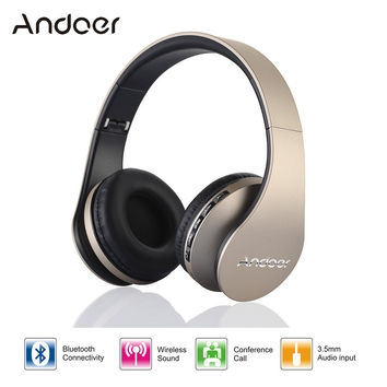 Digital 4 in 1 Andoer LH-811 Stereo Wireless Bluetooth 4.1 + EDR Headphone Headset & Wired Earphone with Mic MicroSD/TF FM Radio