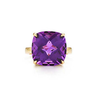 Tiffany & Co. - Tiffany Sparklers amethyst cocktail ring in 18k gold.