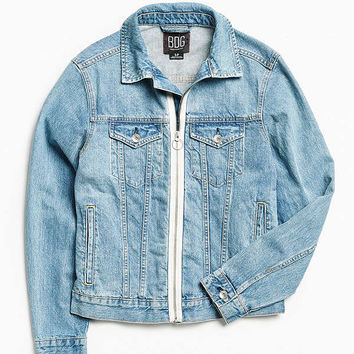 BDG Zip Front Denim Trucker Jacket | Urban Outfitters