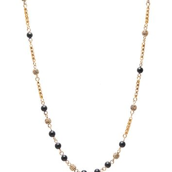 Men's Gold Chain with Ebony Beads