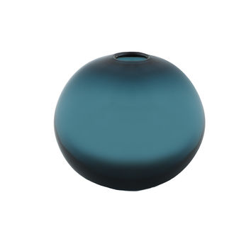 Samuji Turquoise Ball Glass Vase
