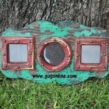 Tatiana Rustic Picture Frame in Turquoise