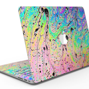 Neon Color Fushion with Black splatters - MacBook Air Skin Kit