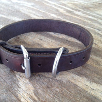 Chase Tactical Flat Leather Collar