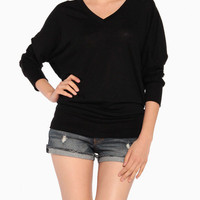 Soft V-Neck Long Sleeve