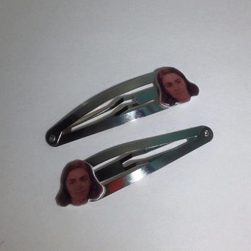"Lena Dunham as Hannah Horvath ""Brows be Like"" Acrylic Charm 2.5 inch Snap Clip Set"