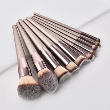 1PCS Wooden Foundation Cosmetic Eyebrow Eyeshadow makeup brushes case holder makeup brushes natural hair soft makeup brush set#7