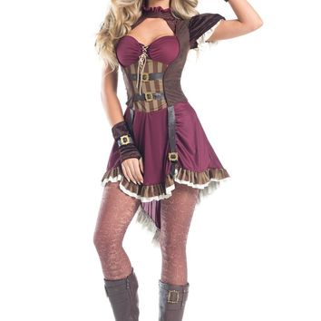 BW1548 5 Piece Steampunk Rider Costume - Be Wicked