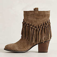 Anthropologie - Knotted Fringe Booties