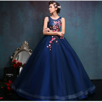 Vestido De Festa Red / Green Lace  Special Occasion Prom Dresses Vestidos Evening Dresses Ball Gowns Masquerade Ball Gowns