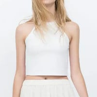 Halter Bodycon Cropped Top
