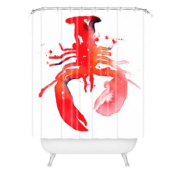 CMYKaren Lobster Shower Curtain