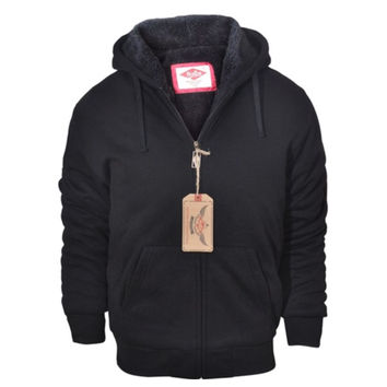 """Love Him"" Men's (or women's) Sherpa Lined Hooded Jacket"