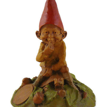 "Vintage, Tom Clark, Retired ""Eddie"", Handcrafted, Gnome Figurine, By Cairns Studio"