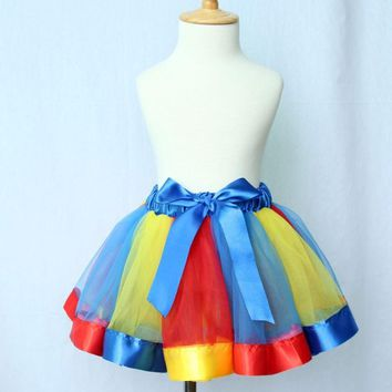Girl Skirt Kids Rainbow Tutu Skirts