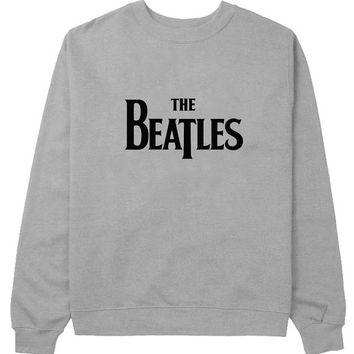the beatles sweater Gray Sweatshirt Crewneck Men or Women for Unisex Size with variant colour