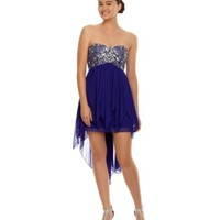 B. Darlin Strapless Beaded Hi-Low Dress | Dillards.com