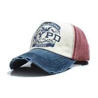 6  colors cotton Vintage Snapback Cap adjustable hat Unisex Baseball Cap