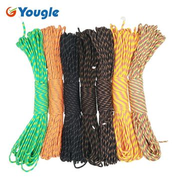 YOUGLE 100FT 7 Cord Strand Paracord 550 Parachute Cord Lanyard Rope Mil Spec Type III Tent Wind rope Camping Survival Kit 81-87