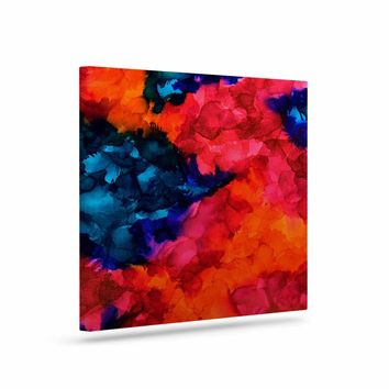 """Claire Day """"Jaded"""" Magenta Teal Abstract Painting Canvas Art"""