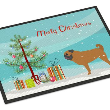 Pug Merry Christmas Tree Indoor or Outdoor Mat 24x36 BB2965JMAT