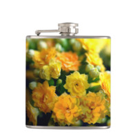 Tiny Yellow Flowers Flasks