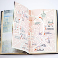 Moscow and its environs travel guide in English 1981, vintage Moscow guide with maps and illustrations, historical cultural relics book gift