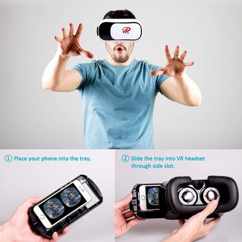 Virtual Reality 3D VR Headset Glasses 360 Panoramic for iPhone Android Samsung.