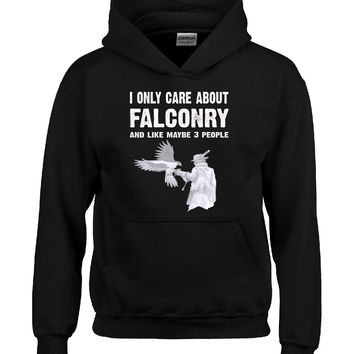 I Only Care About Falconry And Maybe 3 People Funny Novelty - Hoodie