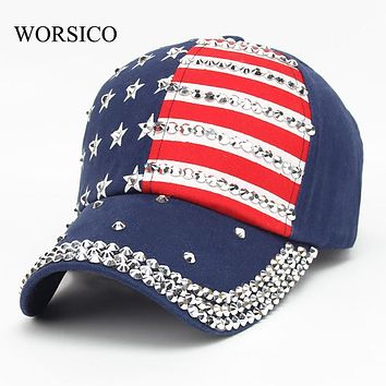 Summer Baseball Cap Women 2017 High Quality Brand Cotton Hat For Men Women Snapback Cap Rhinestone Star Denim cap hat Bone Gorra